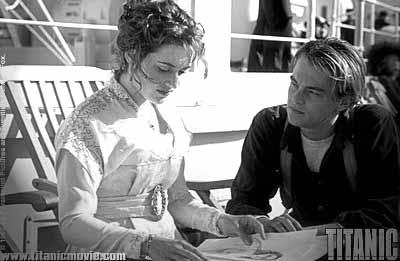 Jack Dawson and Rose on board of the Titanic